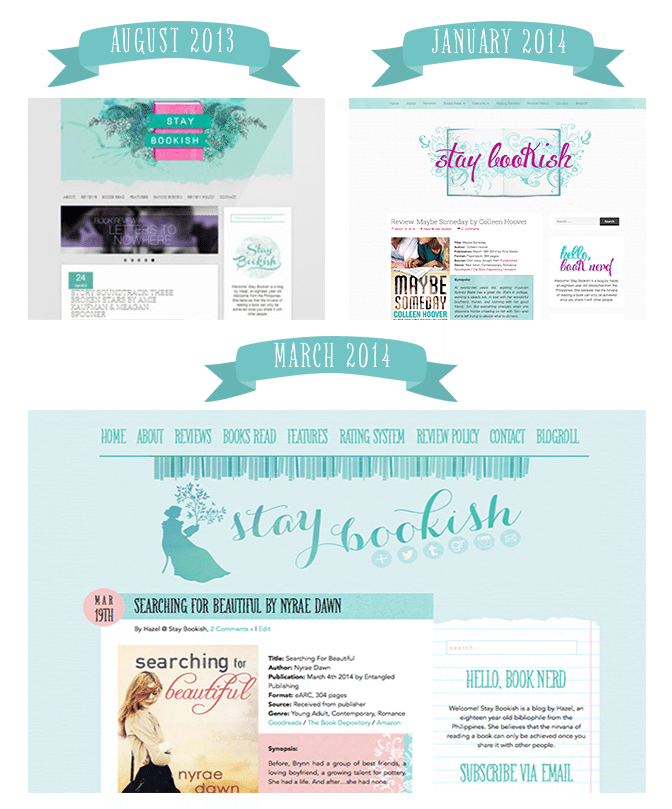 stay bookish design transition
