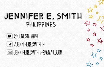 Business Card - Jennifer E Smith Philippines back
