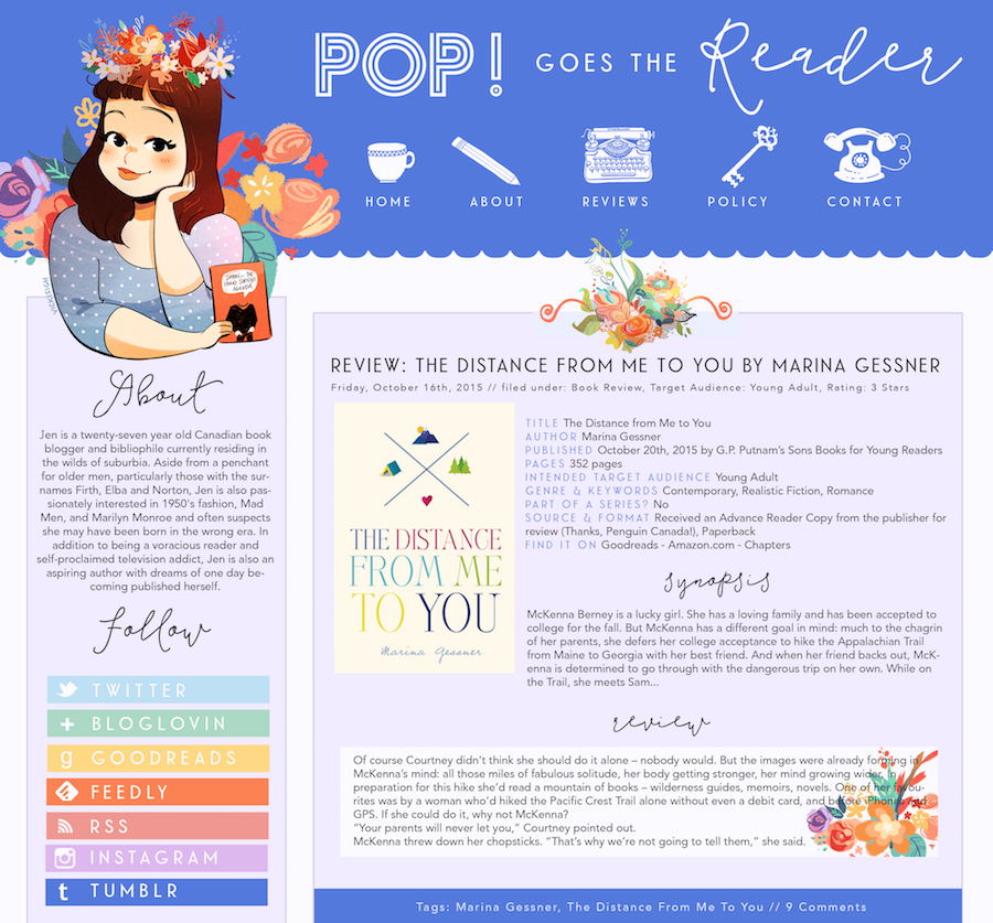 Pop Goes The Reader - Blog Design by Stay Bookish