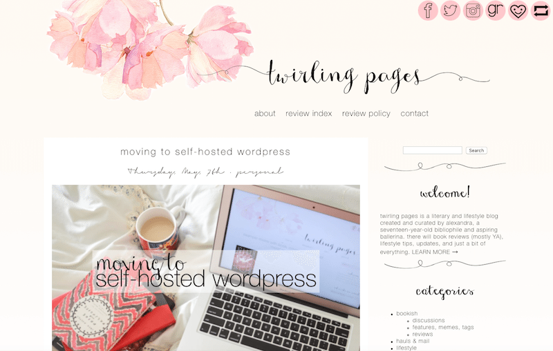 Twirling Pages