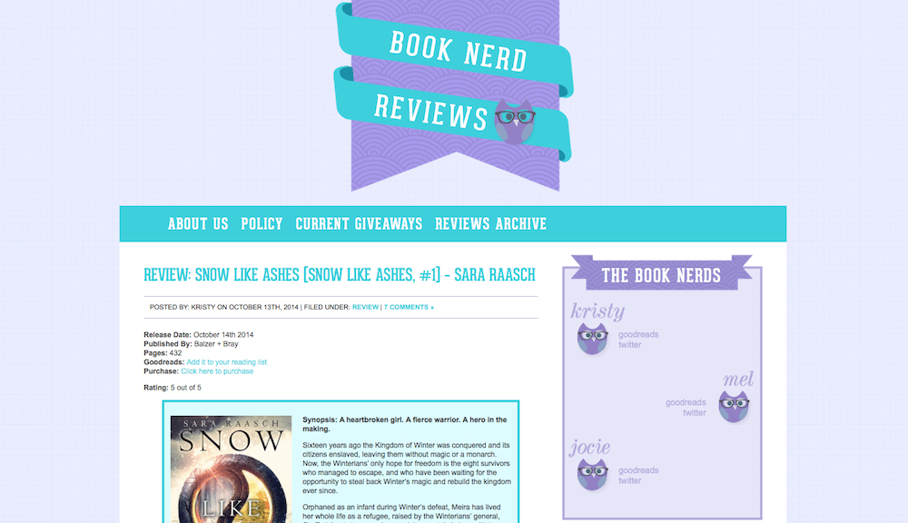 book nerd reviews