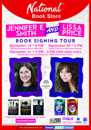 jennifer e smith lissa price book signing philippines