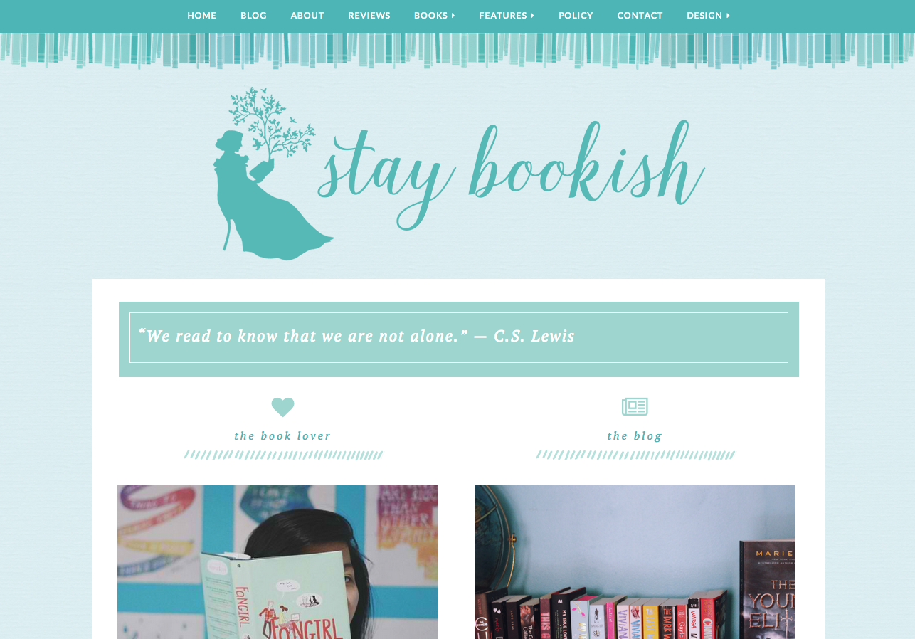 stay bookish v4 - home page