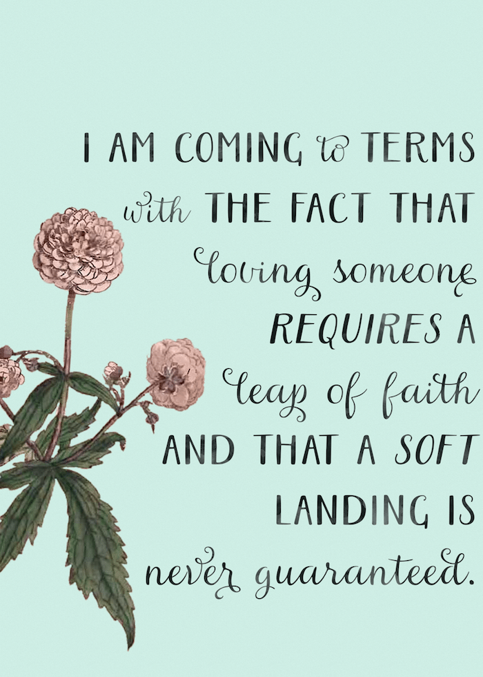quote from this lullaby by sarah dessen - leap of faith