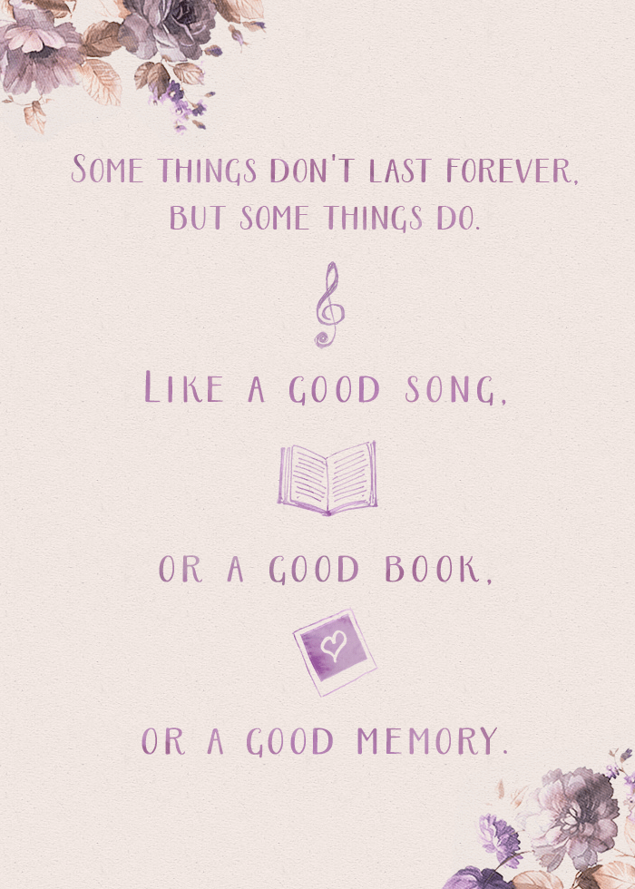 quote from this lullaby by sarah dessen - some things