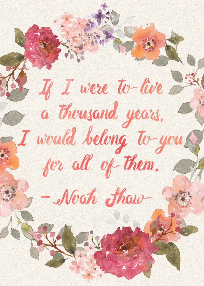 thousand years noah shaw