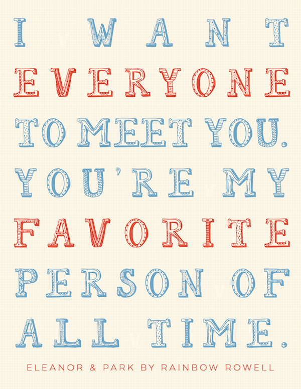 eleanor and park quote - favorite person