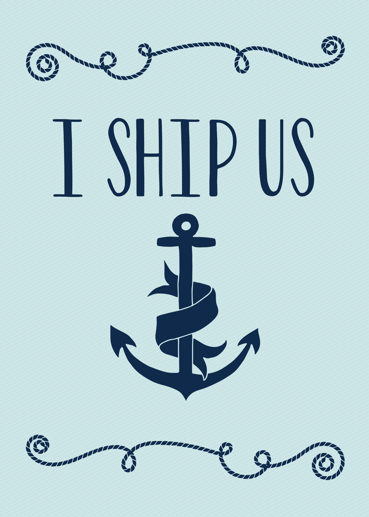 i ship us - valentines day card