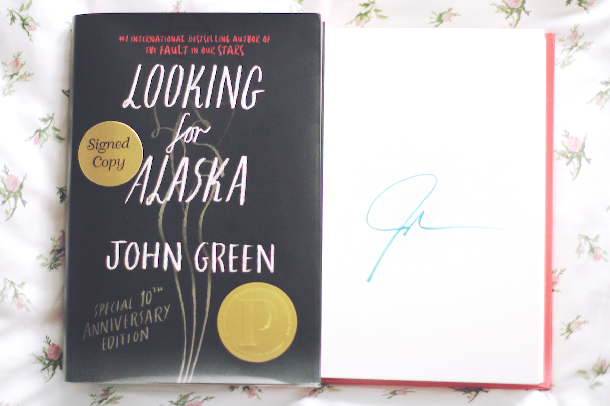 john green looking for alaska special 10th anniversary edition signed
