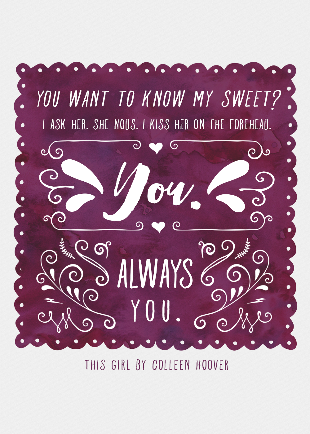 this girl by colleen hoover quote - my sweet