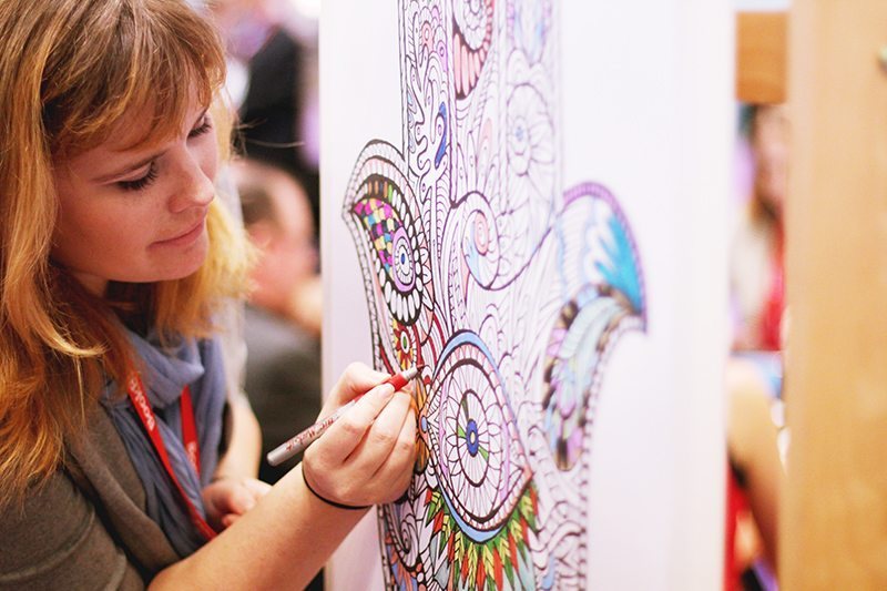 coloring boards at bea
