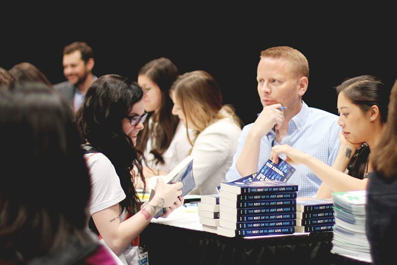 patrick ness bea 2015 autographing the rest of us just lived here