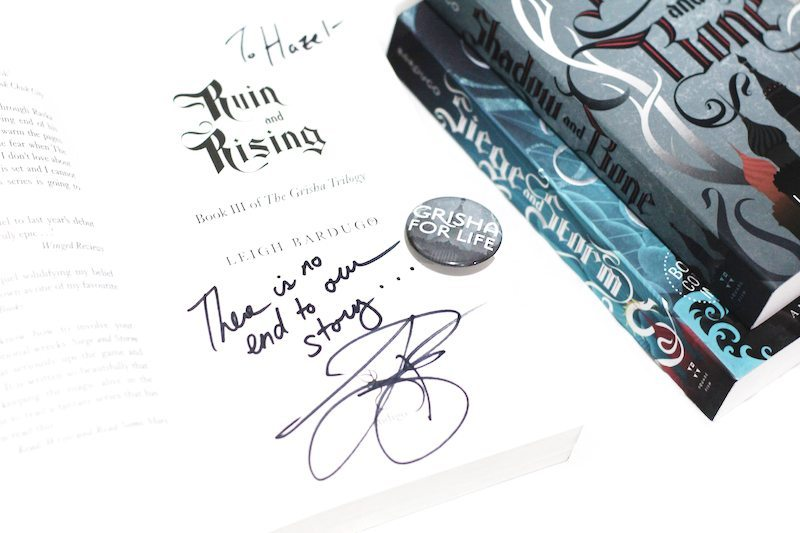 signed books ruin and rising grisha for life
