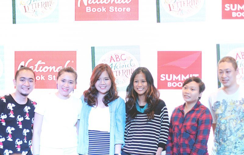 abbey sy with featured artists at book launch