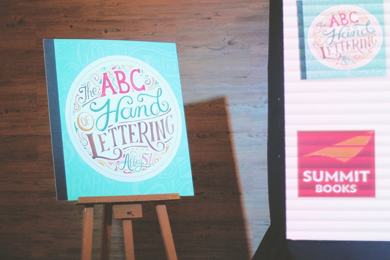 abcs of hand lettering book launch