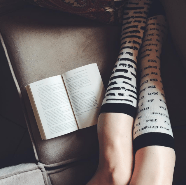 novel portraits - bookish socks