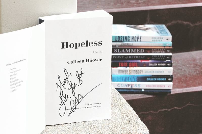 signed colleen hoover books
