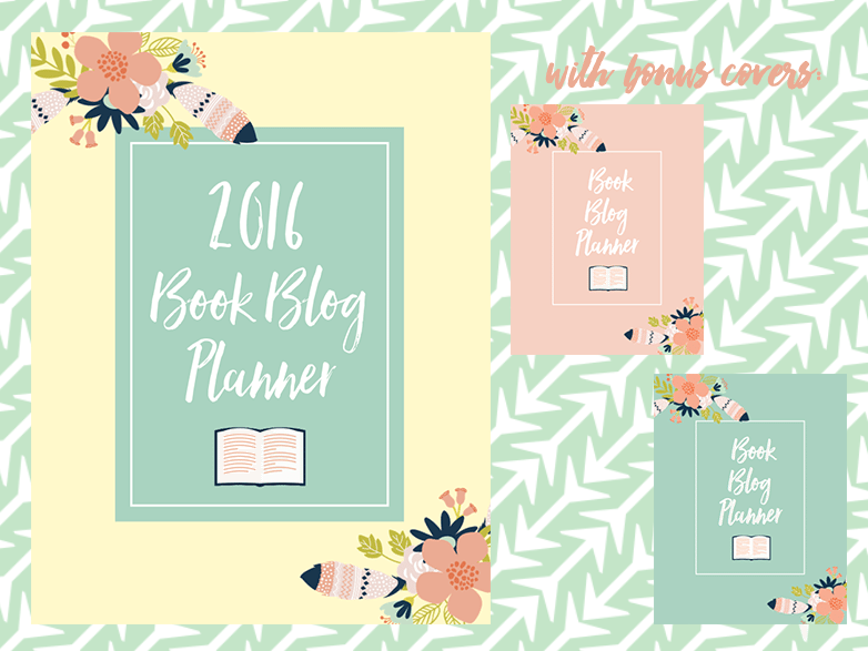 2016 book blog planner covers