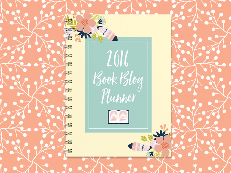 Digital Shop Product - 2016 Book Blog Planner