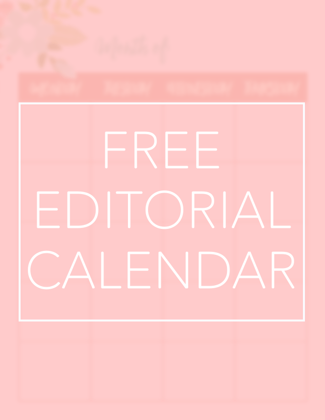 Free Book Blog Editorial Calendar
