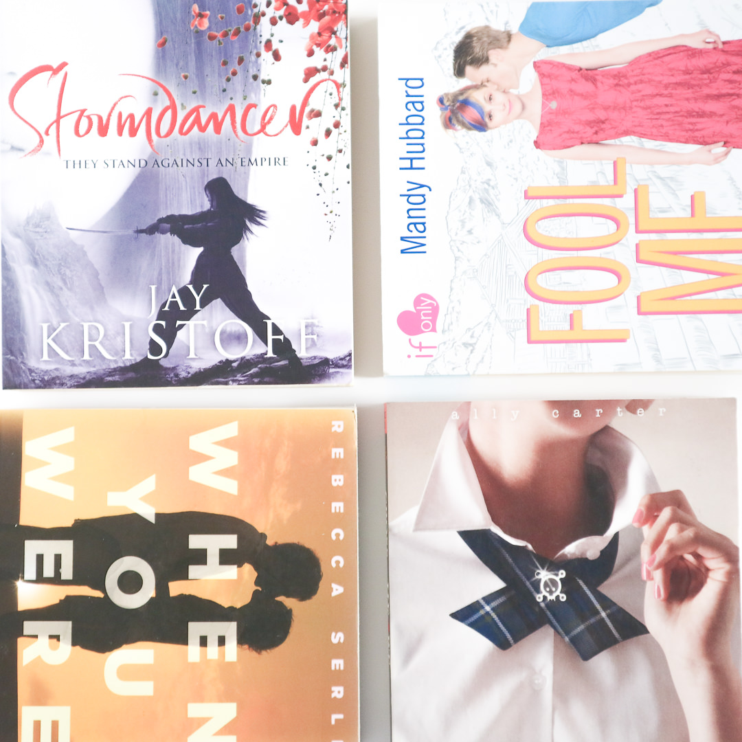 book-sale-haul-stormdancer-fool-me-twice-when-you-were-mine-cross-my-heart