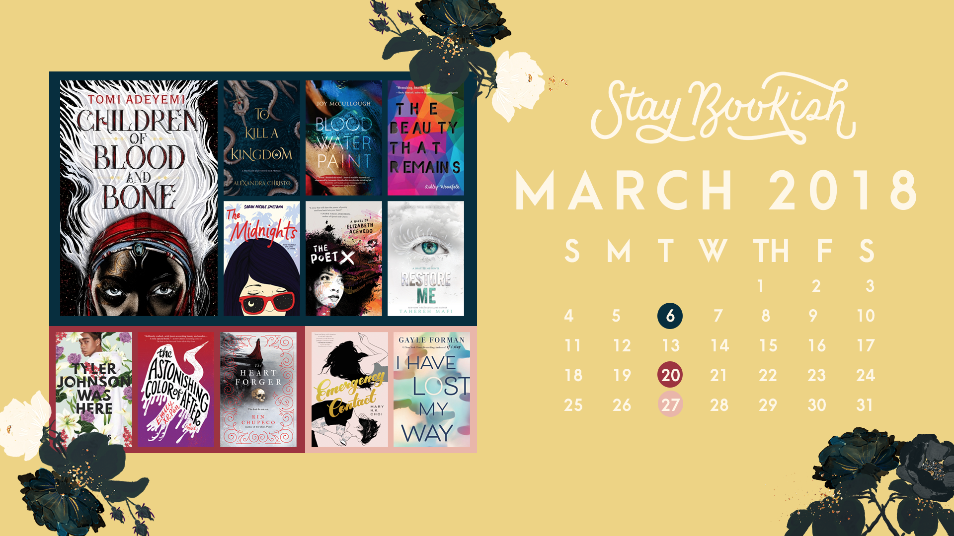 March 2018 YA Releases - Desktop Wallpaper
